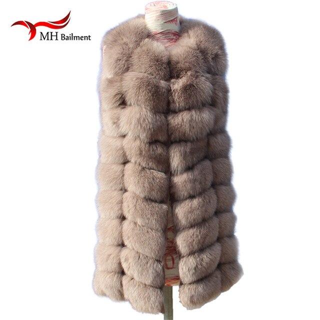 New Fashion Winter Lady Natural Fox Fur Vest Women's Real Genuine Fur Leather Jacket Overcoat Girl's Fox Fur Vest Coat A#9