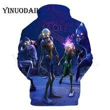 100cm-160cm Parent-Child 3D Hoodies Alien Hoodie for Kids Sudaderas Para Hombre 3DStreetwear