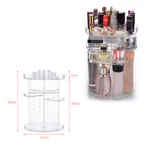 Best Clear Makeup Organizer Rotatable Cosmetic Jewelry Storage Holder for Lipsticks Eyeshadow Nail Polish QQ99(China)