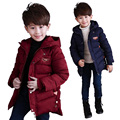 Kids winter clothes Boys cotton coat children Hooded Jackets kids thicken outwear casual clothing for big children 7-13 years