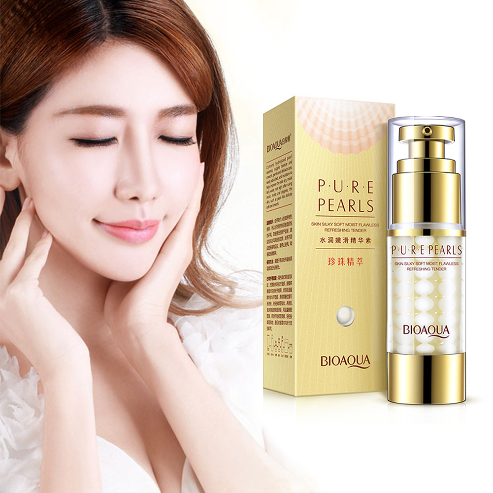 Pure Pearl Collagen Hyaluronic Acid Face Skin Care Face Essence Cream Nourish Moisturizing Hydrating Anti Wrinkle Anti Aging