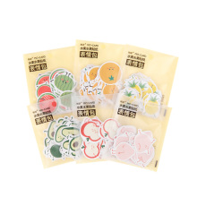 20packs/lot Childrens Room Decoration Fruit And Series Sticker Dairy Six Styles For Gifts