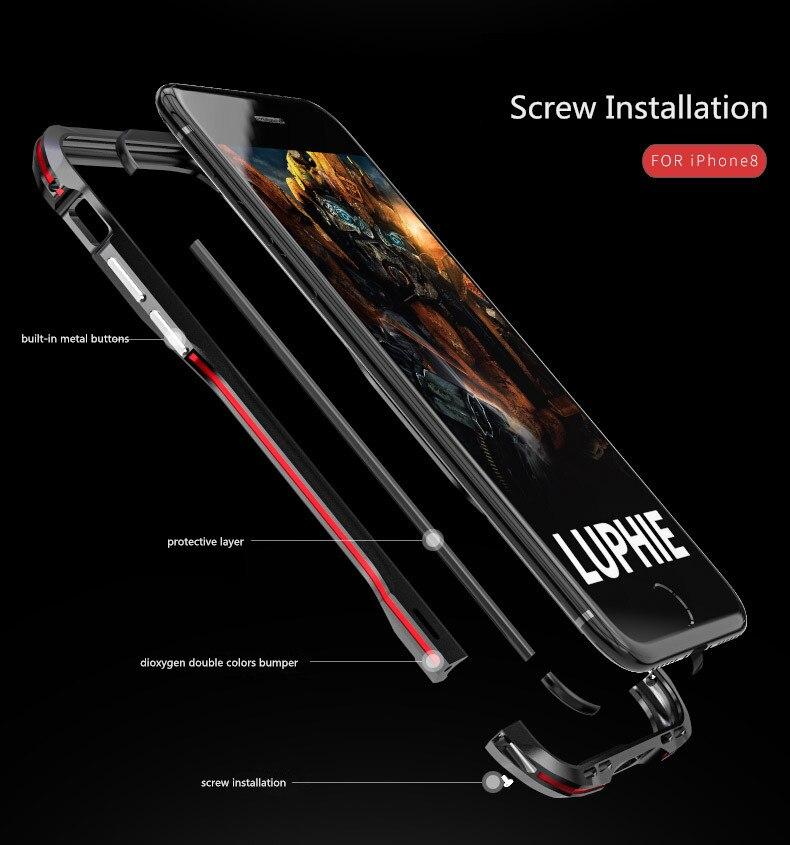 iPhone X 7 8 Plus Luphie Metal Bumper Aluminum Case (21)