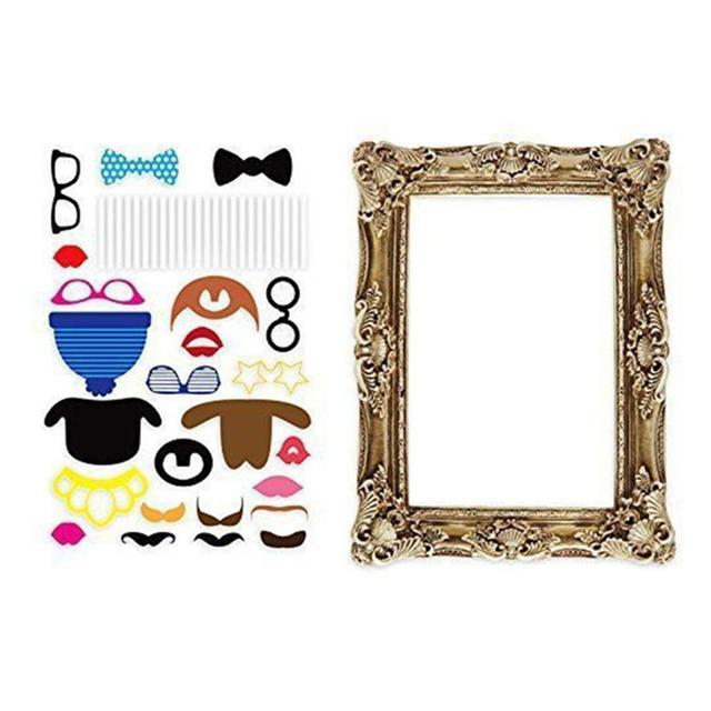 24pcs Photo Booth Large Picture Frame Photo Props Funny Faces