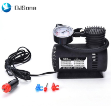 Portable Mini Air Compressor Electric Tire Inflator Pump Car 12V PSI Auto High Pressure Pump Car Tire Air Inflator Pump portable tire inflator pump 12v 150 psi auto digital electric emergency air compressor pump for car truck suv basketballs