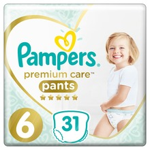 Трусики Pampers Premium Care 15 + кг, размер 6, 31 шт.