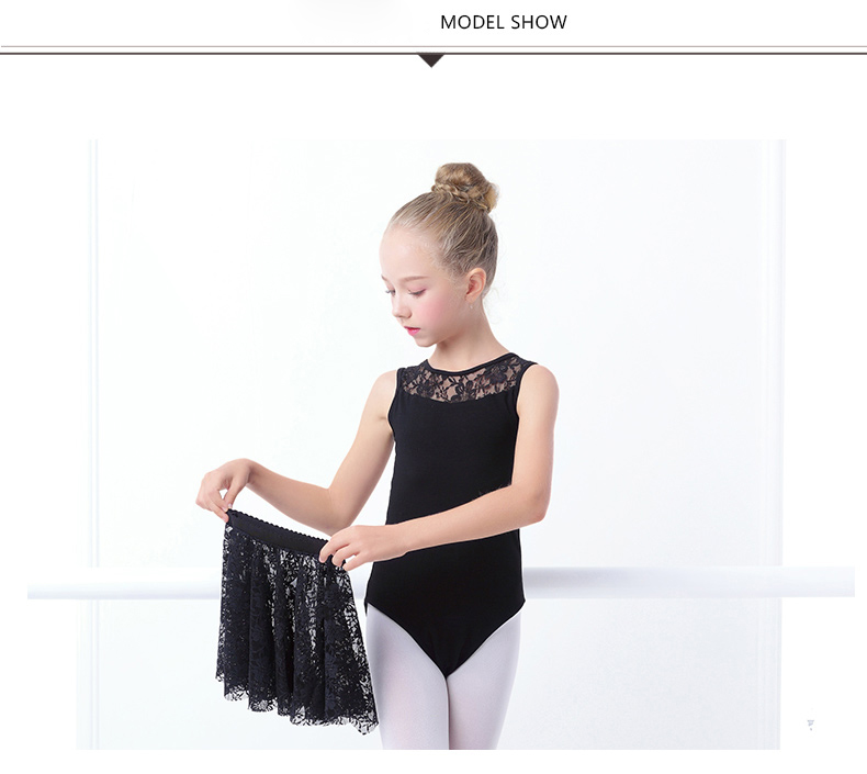 ebe88447cee9 2019 Gymnastics Leotard For Girls Ballet Dress Kids Lace Leotards ...