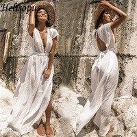 Beach Dress Summer Women Beach Wear White Cotton Tunic Dress Bikini Bath Sarong Wrap Skirt Swimsuit Cover Up 2019 New Cover ups