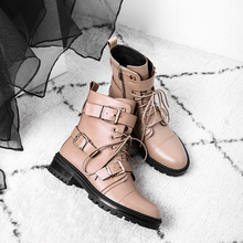 Vangull Women Genuine Leather Boots British style wild short short boots short tube with European and American Martin boots british style men s short boots with buckle strap and ruched design