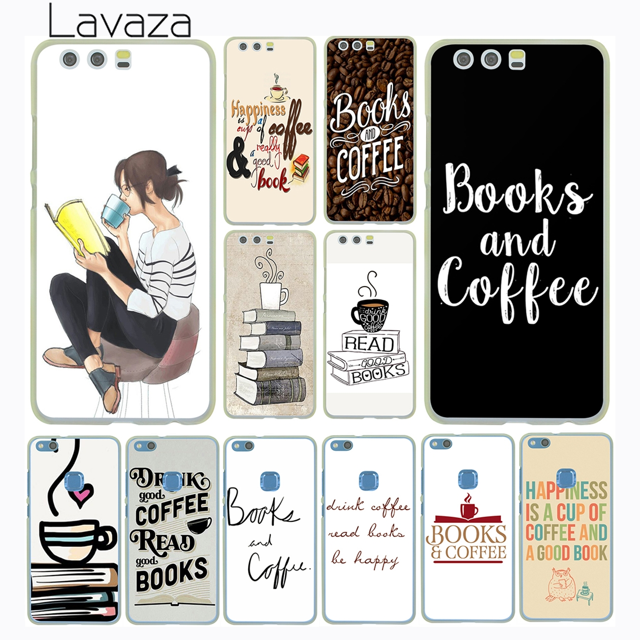 Invert color jpg online - Lavaza Books And Coffee Inverted Mck Print Hard Case Cover For Huawei P8 P9 P10 Lite