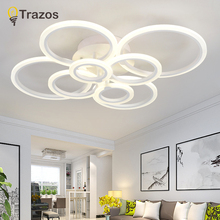 Round Designer Minimalist Modern led ceiling lights for living Study room bedroom AC85-265V modern led ceiling lamp fixtures veihao new modern led ceiling lamp for living room bedroom study indoor acrylic square round art ceiling lamp lighting ac85 260v