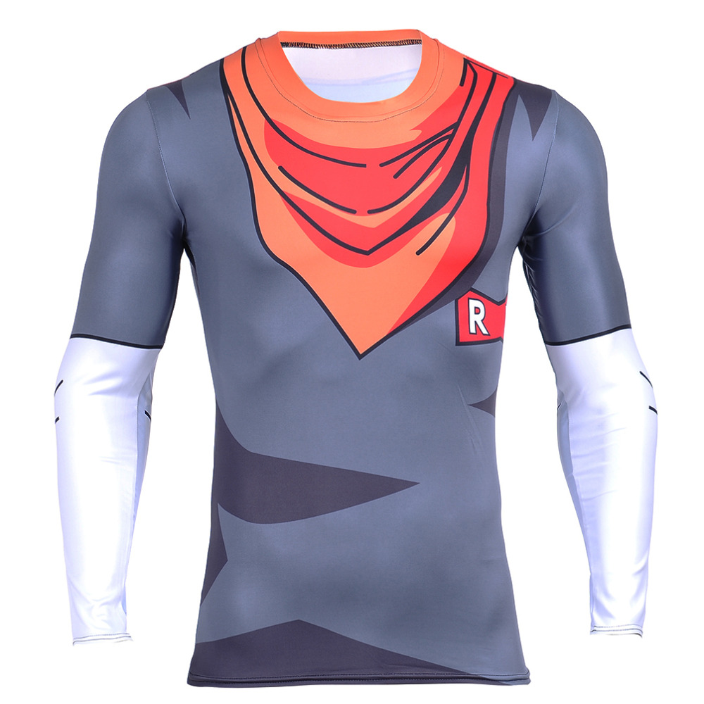Men 3D Dragon Ball Z T Shirt Vegeta Goku Piccolo Super Saiyan Tee LONG Shirt New Fitness Hot t-shirt Anime Character