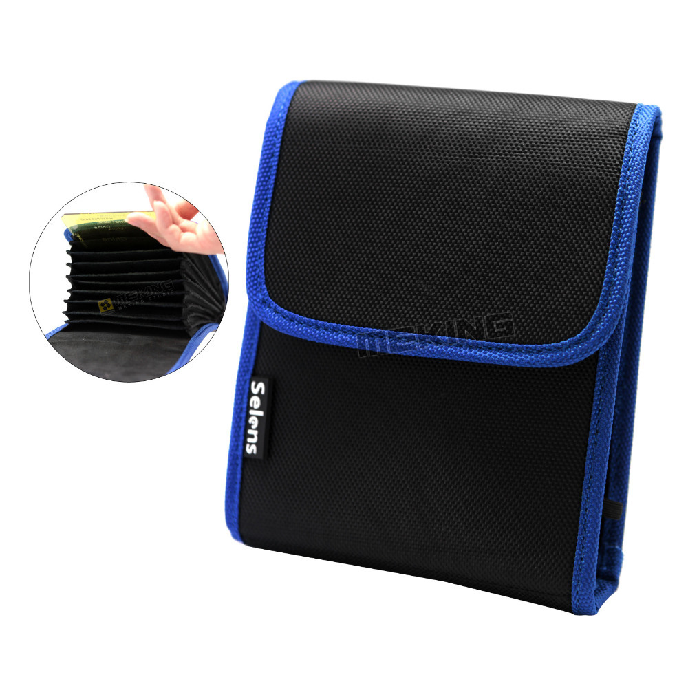 10in1 Selens 100*150mm Filters Carry Case Bag with 10 Pockets for Cokin P Series Square Filter ND UV CPL MCUV