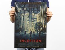 cuadros decoracion poster wall art cuadros posters and prints Inception Sci-fi movie posters kraft cafe bar decoration 50x35cm