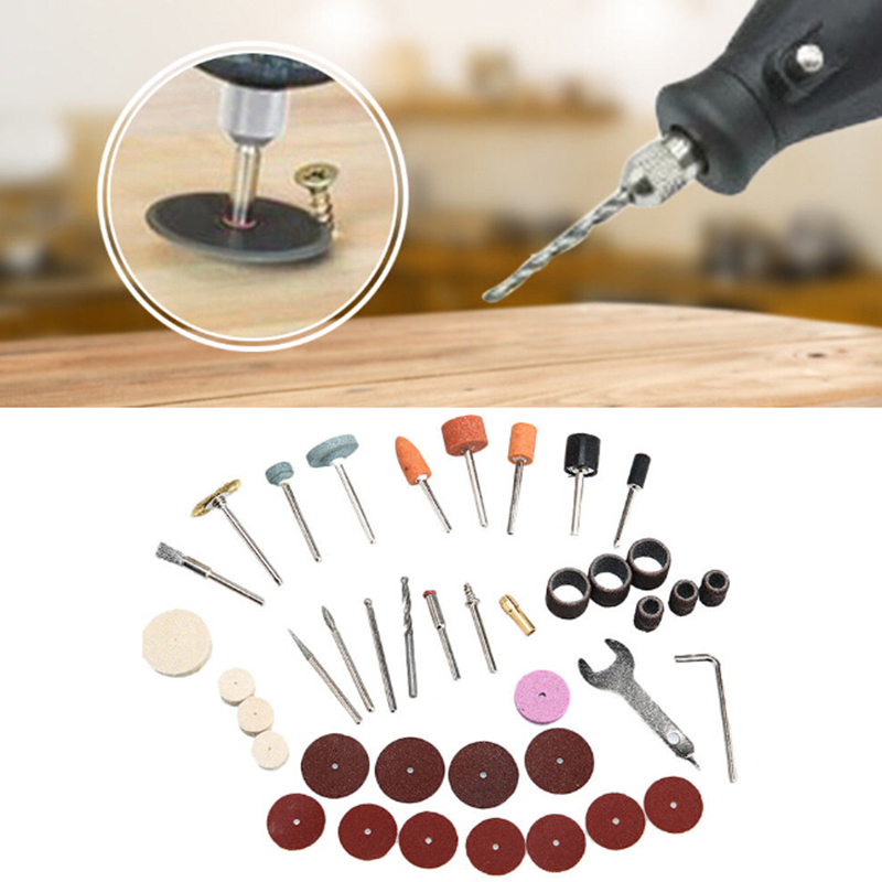 40pcs Mini Electric Drill Grinder Rotary Tool Grinding Polishing Attachment