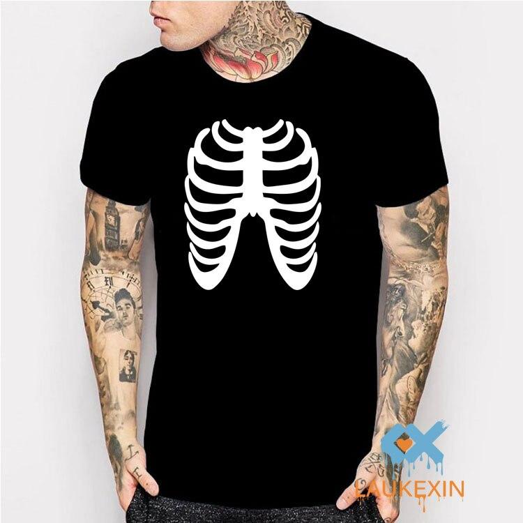 hueso esqueleto divertido verano tee novedad hombre camisetas camisetas camisa casuals de calabaza de halloween partido