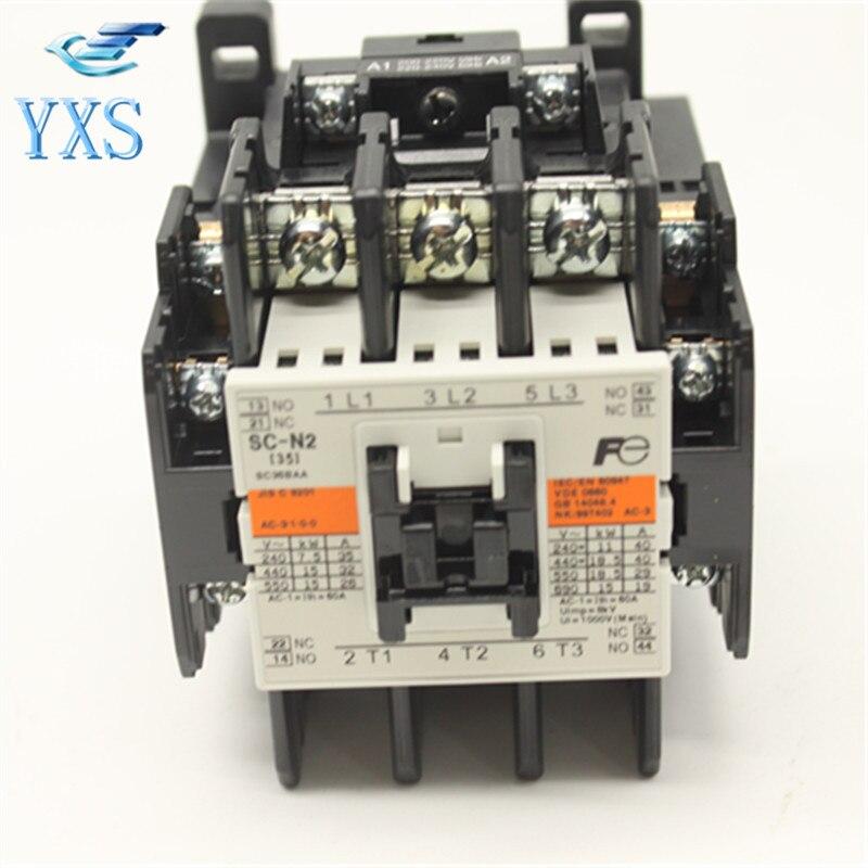 Original Genuine AC Contactor SC-N2 AC220V 110V 380V [free shipping] new original genuine ls production ac contactor gmc 32