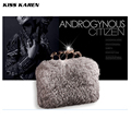 Kiss Karen Luxury Rabbit Fur Women Evening Bags Elegant Clutch Bag Lady Party Clutches Wedding Bag Club Handbags Minaudiere