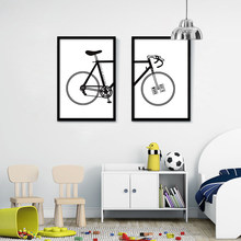 Simple Road Bike Picture Printed on Canvas Fashion Bike Poster Oil Painting for Bike Collector Decor Home Office no Frame(China)