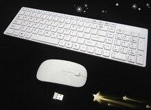 1 set 2.4G Wireless keyboard Portable multimedia wirelss PC Keyboard +wireless Mouse Keypad Film Kit Set For DESKTOP PC Laptop
