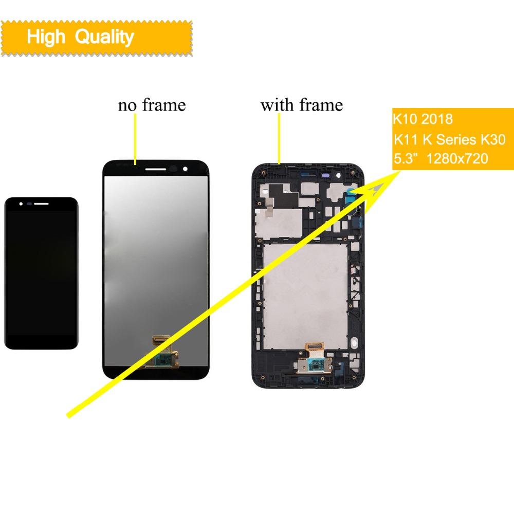 10 шт./лот ЖК-дисплей дисплей для LG K10 2018 ЖК-дисплей Сенсорный экран планшета Запчасти для авто для LG K10 2018 k11 светодиодная полная сборка