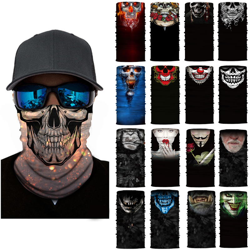 Electric Vehicle Parts 2019# Motorcycle Face Mask Cycling Halloween Head Scarf Neck Warmer Skull Ski Balaclava Headband Scary Face Shield Mask Outdoor