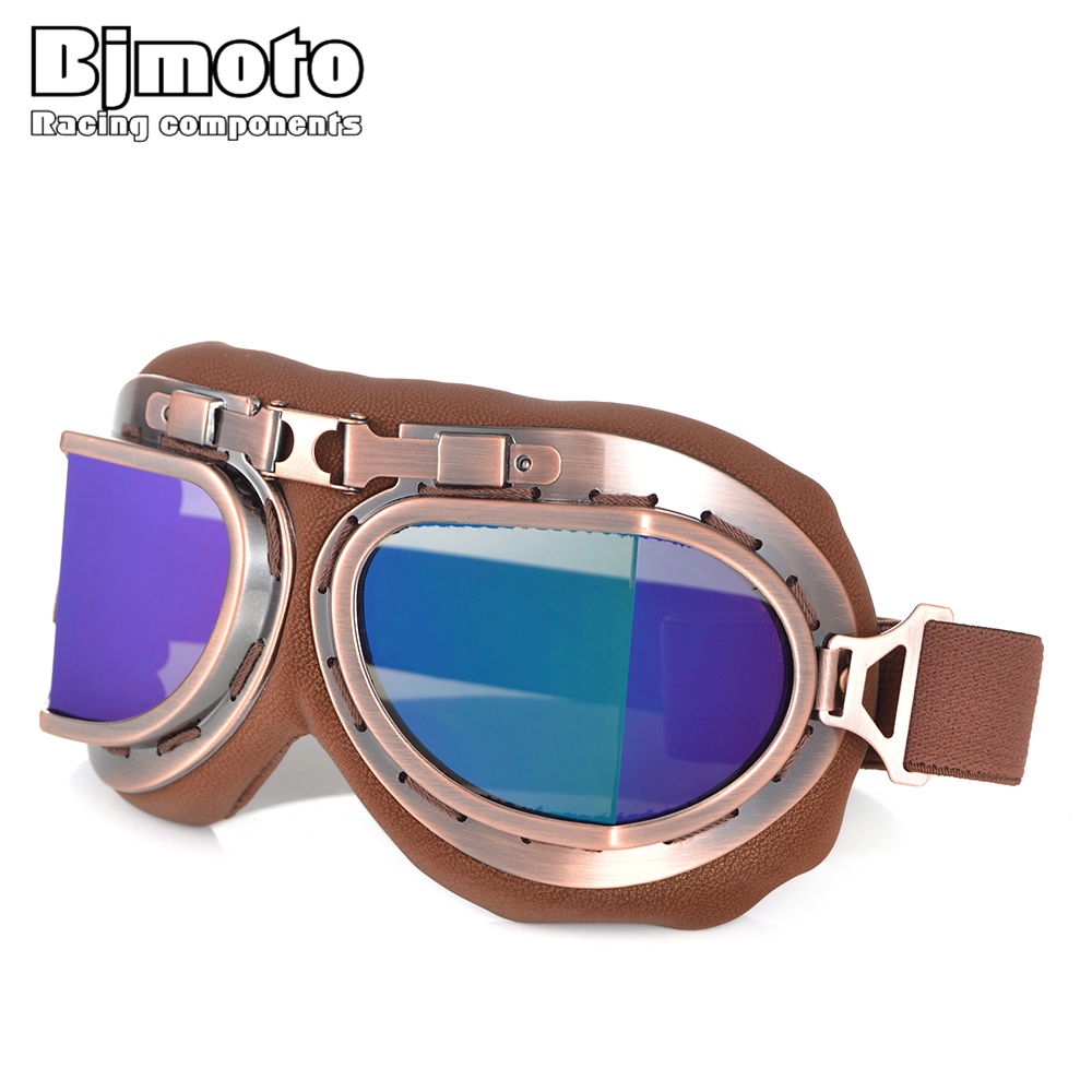 New Motorcycle Riding Helmet Goggles Glasses Off Road Goggles Pilot Scooter Retro Pit Dirt Bike Eyewear UV Protection For Harley