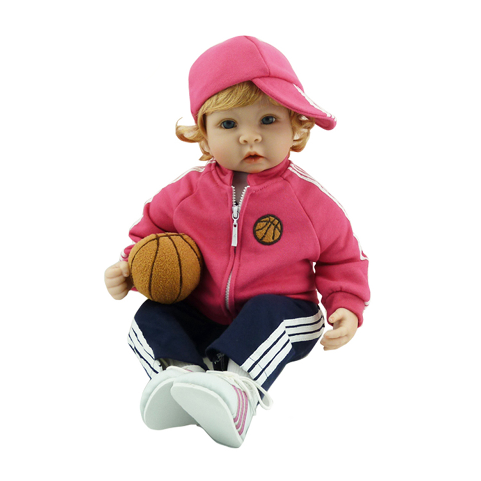 Handmade Sport Reborn Baby 22 inch So Truly Baby Alive Dolls Soft Silicone Ethnic Boy Doll Reborn 2017 New Kids Christmas Gifts realistic ethnic dolls reborn baby dolls 22 55 cm soft silicone baby alive doll wear clothes so truly baby toys birthday gifts