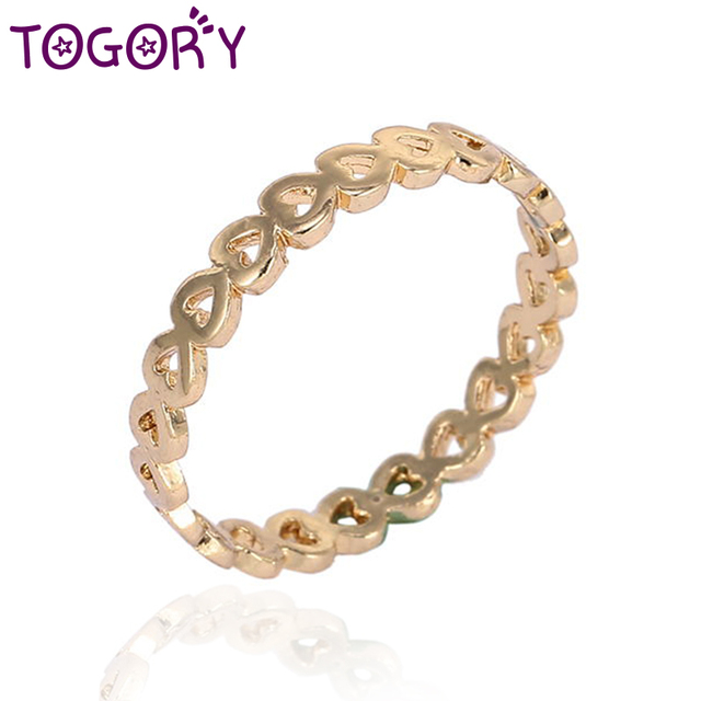 TOGORY 2018 Fashion Dropshipping Bow Knot Stackable Fine Ring Micro Pave CZ Finger Ring for Women Best Gift Jewelry