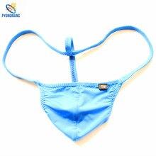 2016 Sexy Men Jockstrap Gay G Strings Thongs Underwear Penis Pouch Mens String Bikini sous vetement homme