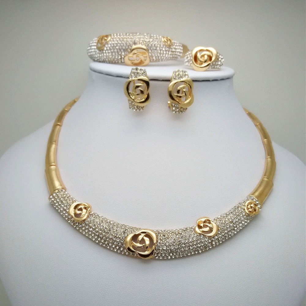 Kingdom Ma Wholesale Women Statement Jewelry Sets Fashion Necklace Dubai Nigerian Party Wedding African Accessories