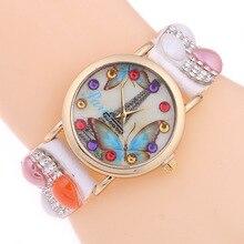 Elegant Luxury Women's Quartz Wristwatch Leather Folk Custom Women Bracelet Watch Rhinestone Jelly Clock Relogio Feminino Gift