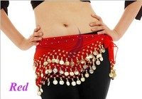 500pcs/lot fashion popular by European American Egypt belly dance fitness hip waist wear 128 coins belt chain lowest price