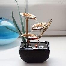 Декоративные домашние фонтаны для воды изделия из полимера подарки фэн шуй Настольный фонтан для домашнего офиса украшения чайного дома