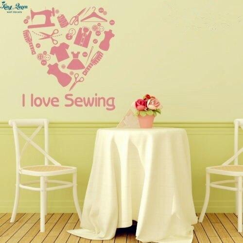 Aliexpress.com : Buy Love sewing Removable Vinyl Heart Wall Art Wall ...