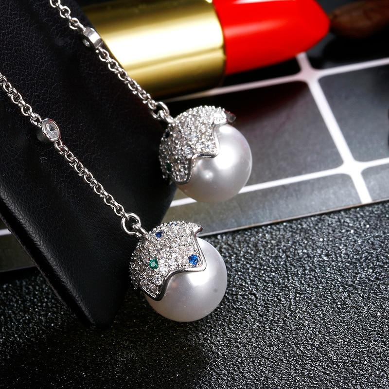 f3d75aa86 100% 925 sterling silver fashion shiny crystal imitation pearl egg  ladies`long stud earrings women jewelry female gift wholesale-in Stud  Earrings from ...