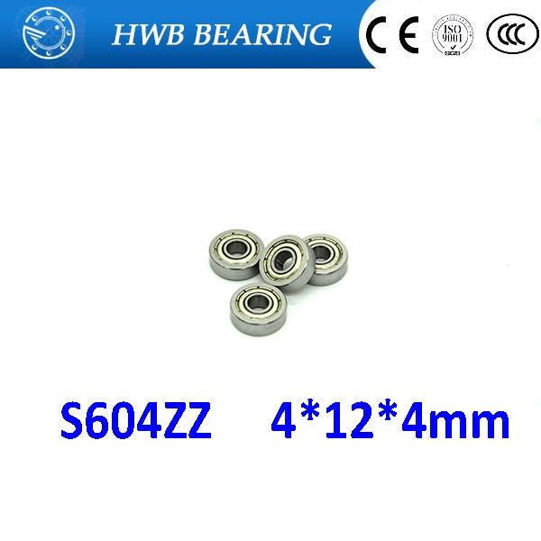 Free shipping S604ZZ S 604 stainless steel 440C deep groove ball bearing 4x12x4mm miniature bearing S604 ZZ 4*12*4mm DDR-1240ZZ s634zz stainless steel deep groove ball bearing 4x16x5mm miniature bearing ss634zz 4 16 5