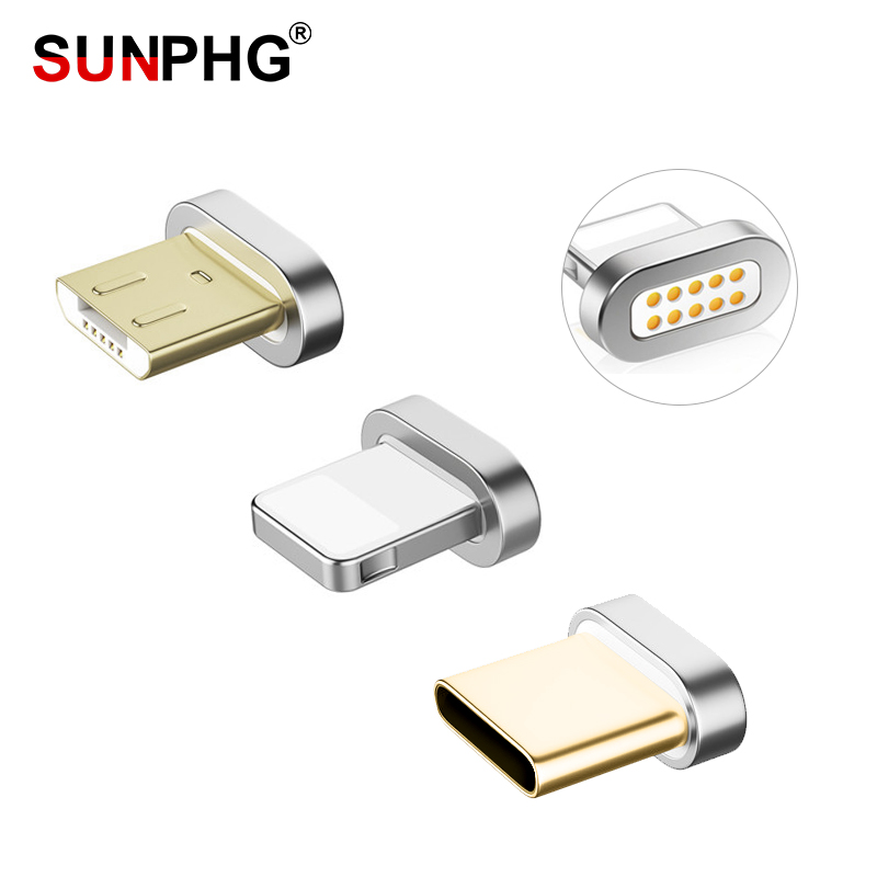 SUNPHG Magnetic Plug for IOS Type C Micro USB Cable Charging Adapter For iPhone X For Samsung S9 Charger plugs image