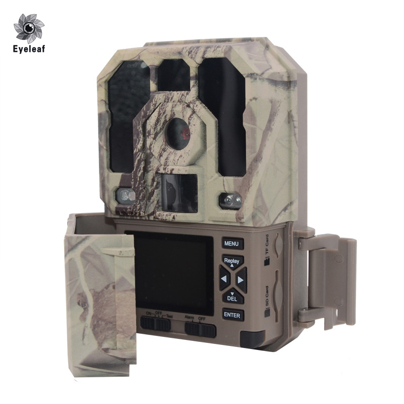 Trappola per foto a forma di trappola Digital Trail Camera 12mp Caccia fotocamera Trappola HD 1080 P 940NM 48 pezzi LED Long Night Distance Caccia Videocamera