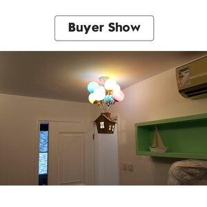 Image 5 - Plafonnier suspendu en forme de ballon coloré, design nordique, luminaire décoratif dintérieur, idéal pour la chambre dun enfant