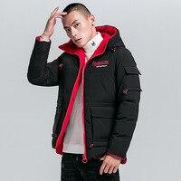 Hot Winter Warm Youth Parka Smart Fashion Men's Coats and Jackets Embroidered Letter Parkas Men Big Size Cotton Chaquetas Hombre