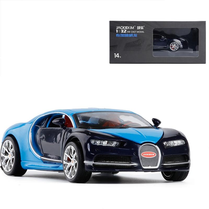 JackieKim 1:32 Bugatti Veyron Diecast Model Car Toy Cars Racing