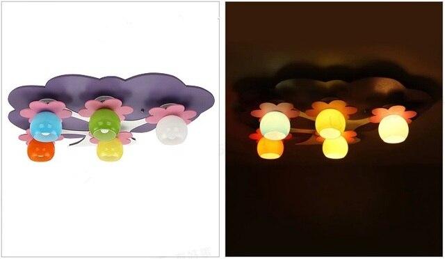 Leuke Slaapkamer Lamp : Kleurrijke leuke bloem boom milieuvriendelijke led plafondlamp