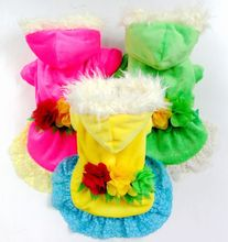2014 happiness like flowers lace velvet winter pet clothes pet clothing dog clothes