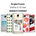 Fusão ringke caso oneplus 3/oneplus 3 t-crystal clear pc rígido de volta + quadro tpu macio capa protetora para oneplus 3