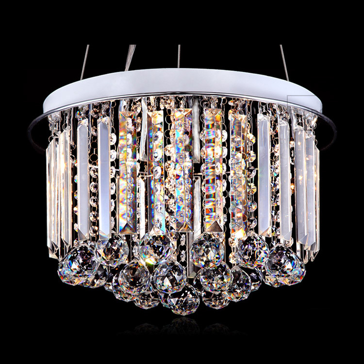 Modern 16 Crystal Ball Hanging Round Dining Room 6 Lights Pendant Light Luxury Living Room Elegant CRYSTAL Ceiling Pendant Lamp egypt imported crystal 8 light pendant lights in ball shape chrome pl1040