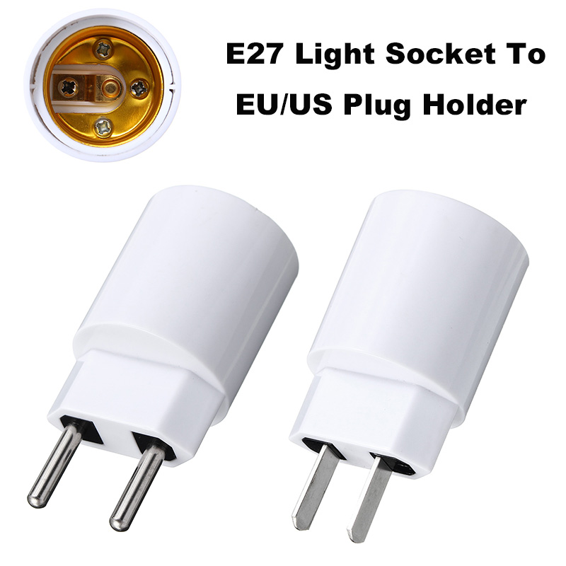 110-220V E27 Lamp Base EU/US Plug Socket 4A Flame Retardant PBT Housing For Led /small Night Light Lamp Holder Converter