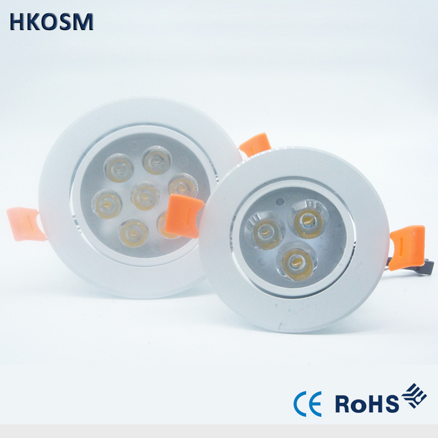 ecessed dimmable Led Downlight AC110V/220V 9W 15W 21W Ceiling Lamp ...
