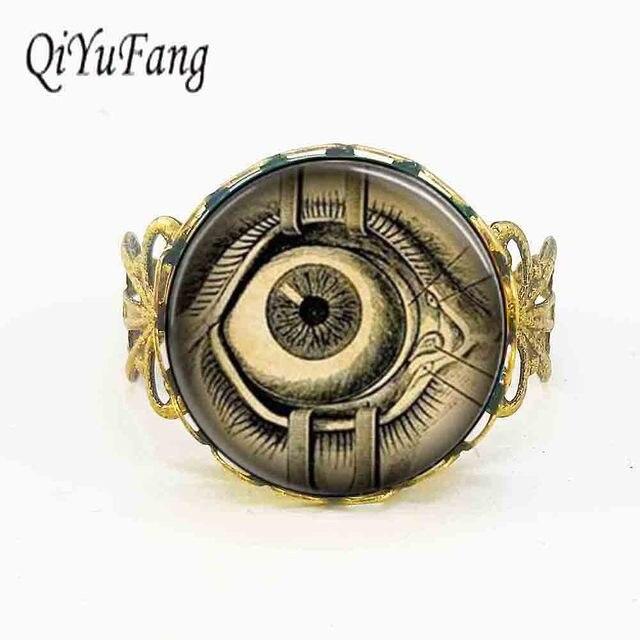 Free Shipping Steampunk Jewelry Human Anatomy Eyeball Evil Eye