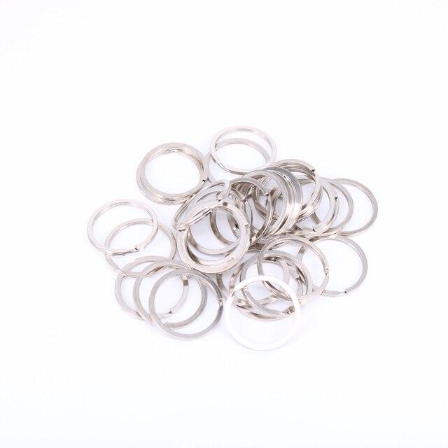 10Pcs Metal Key Holder Split Rings Keyring Keychain Keyfob Accessories 30mm